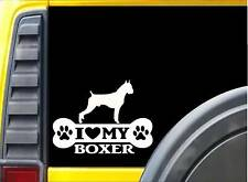 Boxer Bone Sticker L057 8 inch cropped dog decal