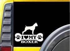 Boxer Bone Sticker L057 8 inch cropped dog decal