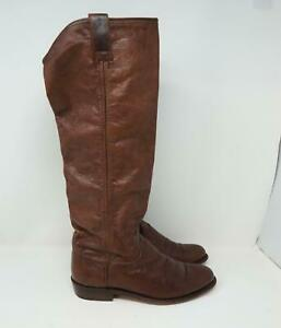 Frye Carson Leather Riding Boots Brown Womens US 7.5