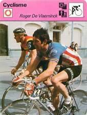 FICHE CARD: Roger De Vlaeminck Cycliste sur route Belgium Cycling CYCLISME 1970s