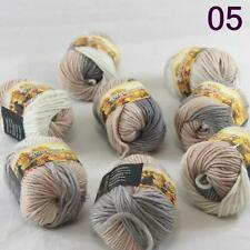 Sale Lot 8 Skeins NEW Knitting Yarn Chunky Hand-woven Colorful Wool scarves 05