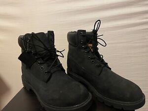 "Timberland 6"" Mens Black Nubuck 400 Gram Primaloft Waterproof Boots Size 9 NIB"