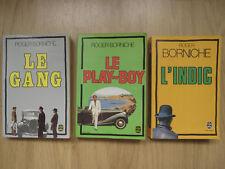Lot de 3 livres de Roger BORNICHE (livres de poche)  Livres policiers