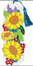 Joan Baker Designs SUNFLOWER FIELD Handpainted Plastic Bookmark NEW Flowers