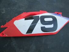 JESSY NELSON #79 CRF450R CRF250R RED SIDE PANEL LEFT NUMBER PLATE 09 10 11 12 13