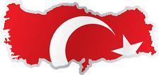 """Turkey Country Flag Map Car Bumper Window Mirror Sticker Decal 6""""X3"""""""