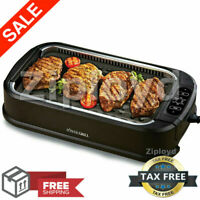 Smokeless Indoor Electric Grill Power 1200 Watts XL Non Stick BBQ As Seen On TV