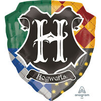 Harry Potter Howgarts Happy Birthday SuperShape Foil Balloons Party Decoration