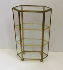 Glass And Brass Miniature Curio / Display Cabinet