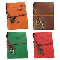 Cuaderno de Cuero retro clasico Cuaderno del diario de las paginas en blanco 6M3