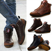 Mens Casual Sneakers Lace up Shoes Fall&Winter Ankle Boots Flats Loafers Size