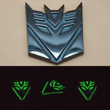 Car Black Badge Self-luminous Transformers Decepticon Auto Emblem Decals Sticker