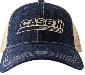 Case IH Two-Tone Denim Trucker Men's Cap