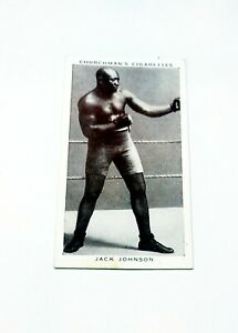Jack Johnson 1938 Churchmans Cigarettes #20 High Grade Boxing Personalities Card