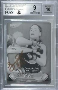 2014 Topps UFC Knockout Printing Plate Black 1/1 Jessica Eye #73 BGS 9