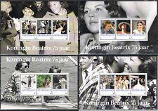 Nederland 3012-D-6/9 4 velletjes Beatrix 75 jaar