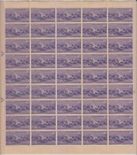 INDIA 1953 2An. MOUNT EVEREST MNH COMPLETE SHEET OF 45 STAMPS.