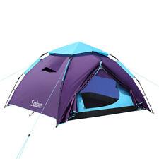 Sable Pop Up Zelt 3 Mann Wurfzelt zweischichtiges Kuppelzelt Winddicht Outdoor