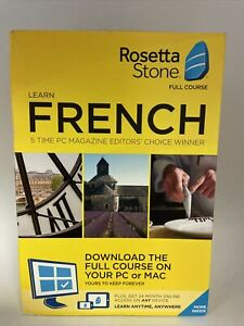 NEW SEALED Rosetta Stone - French Full Course Online Subscription Download