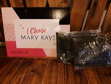 Mary Kay Black Fold Up Face Case Mirror and Bag Brand New