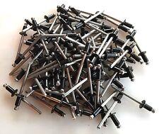 """100 All Stainless Steel 5/32"""" Pop Rivet Blind Rivet, Black  .126-.187 Grip"""