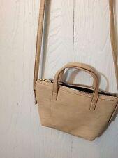 Anthropologie Free People Elsey Tan Beige Vegan Leather Mini Handbag Purse.