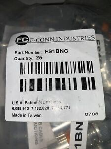F-conn Industries FS1BNC Bundle Of 75