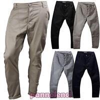 Pantaloni uomo cargo cavallo basso sarouel casual misto cotone nuovi AL708