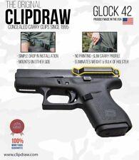 Clipdraw Belt Clip for Glock 42 380 IWB OWB Black Ambidextrous G42B Clip Holster