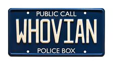 Doctor Who | WHOVIAN | Metal Stamped Standard USA Size License Plate