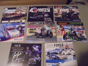 LOT OF 8 NHRA RACING HERO CARDS ALL SIGNED,2019?,FORCE,BROWN,FAST JACK,HEIGHT,KA