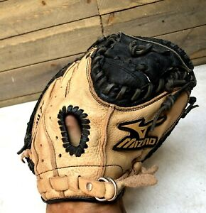 Mizuno Prospect GXC 105 Leather Catchers Mitt Glove Youth 32.50 Right Handed RHT