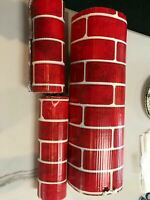Vintage Beistle Brick Classic Decor Wrap Christmas Holiday Fireplace Arts Crafts