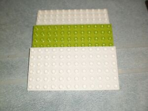Lego Duplo Platte Platten Bauplatten 6 x12 Noppen 3 Stück (S1)