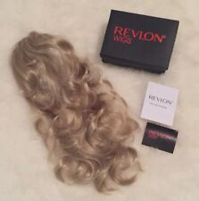 NWT $160 Revlon Wigs Blonde Curly Wavy 3/4 Fall / 1/2 Wig Hairpiece - Gorgeous!