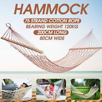 Rope Hammock Outdoor Garden 2 Person Double  Hanging Swing Travel