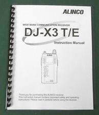 Alinco DJ-X3T/E Instruction Manual: Comb bound & Protective Plastic covers