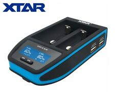 New XTAR Over 4 Slim LCD Fast Battery Charger ( 18650, 26650, 21700 ) - Black