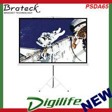 "Brateck 65"" (1.45m x 0.81m) Tripod Portable Projector Screen (16:9 ratio) Black"