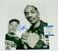 SNOOP DOGG SIGNED 11x14 PHOTO w/ BECKETT COA B/W DR DRE STRAIGHT OUTTA COMPTON