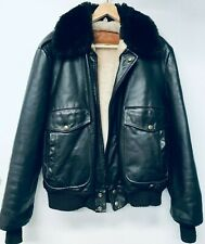 New listing Vintage 70' William Barry Men's Leather Bomber Jacket Size M Made in Usa