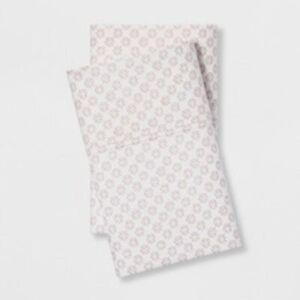 Organic Cotton Pillowcase Set King Size Blush Pink &White Threshold Size 20x40