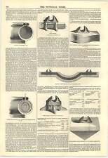 1846 Ferrovia invenzione Hallett atmosferica sistema di tubi metallici Core Sleeper
