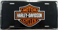 HARLEY DAVIDSON METAL LICENSE PLATE MOTORCYCLE SIGN SHIELD LOGO BLACK NEW!! L134