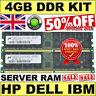 Server RAM 4GB kit 2x 2GB  358349-B21 2GB PC2700 Memory for HP ProLiant Servers
