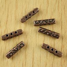20pcs copper-tone bar spacer beads h2360
