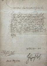 30-JÄHRIGER KRIEG BRIEF GRAF VON GÖTZEN EILENBURG SACHSEN AN GRAF HATZFELD 1637