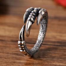 I01 Ring Drachenklaue Sterling Silber 925 größenverstellbar Gr. 17 - 18 Drache