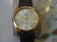 Nice New Q&Q by Citizen Gold Tone Men's Watch w/Golden Two Tone Dial