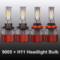 4 Bulbs Kit H11 9005 6000K LED 3600W 540000LM Combo Set Headlight High Low Beam
